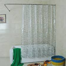Shower Curtain Clear Mylifeunit Solid Square Clear Shower Curtain 72 X 72 Inch