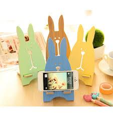 alibaba jailbreak 5 colors cute jailbreak rabbit wood mobile phone stand lovely