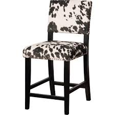 Linon Home Decor Bar Stools by Linon Cs038cow01u Clayton Black Cow Print Fabric Counter Stool