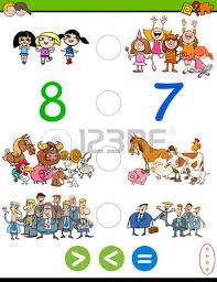 imagenes educativas animadas ilustración de dibujos animados del juego de actividades matemáticas