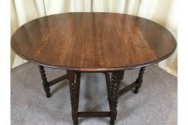 1930 Dining Table Antique Oak Barley Twist Drop Leaf Table 1930 S Gate Leg Dining