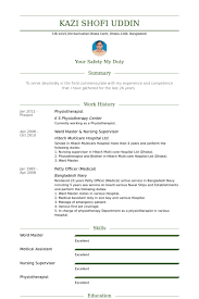 Resume Template For Medical Assistant Physiotherapist Resume Samples Visualcv Resume Samples Database