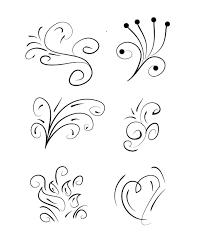 floral swirl designs