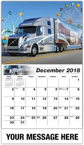 2018 volvo semi truck custom big rigs 65 business promotional wall calendars