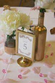 Dollar Tree Vases Centerpieces Diy Pink And Gold Bridal Shower The Budget Savvy Bride
