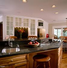 Kitchen Islands With Sink by Angled Kitchen Island With Sink And Stovetop Stock Photo Getty
