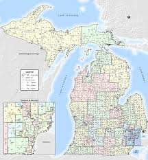 michigan area code map find your senator