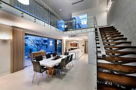 modern minimalist style restaurant and stairs interior design
