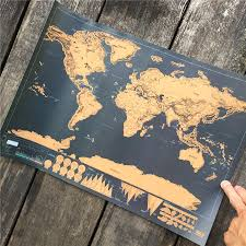 Scratch Off Map Scratch Off World Map Poster For People Who Love To Travel