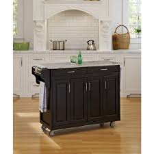 home styles create a cart black kitchen cart with salt and pepper