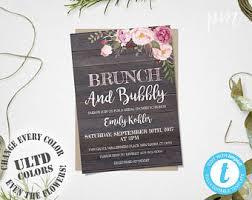 bridal brunch invitations template rustic floral bridal shower invitation template printable