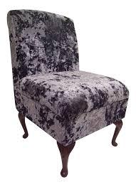 Bedroom Chairs Uk Only Bedroom Chair In Light Beige Crushed Velvet Fabric Amazon Co Uk
