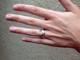 size 6 engagement ring 1 5 carat on size 5 6 finger weddingbee
