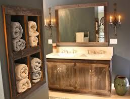 Reclaimed Wood Bathroom Bathroom Bathroom Cabinet With Barn Reclaimed Wood Panel And