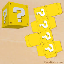 question block treat box free printable super mario bros question