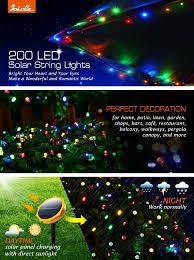 Solar String Lights For Gazebo by Solar String Lights Outdoor 72 Ft 200 Led Waterproof Fairy