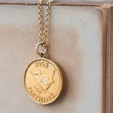 coin necklace gold images Gold lucky coin necklace by cabbage white england jpg