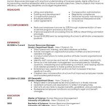 Human Resource Resumes Download Examples Of Human Resources Resumes