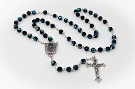 black rosary direct from lourdes lourdes water black rosary