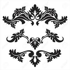 vector ornament in flower style royalty free cliparts vectors