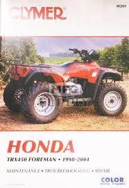 cm205 99 04 honda trx450 foreman repair u0026 maintenance manual