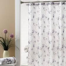 Shower Curtains White Fabric Bathroom Interior Interior White Fabric Curtain With Purple