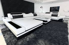 sofa mit led design sectional sofa mezzo with led lights white black ebay