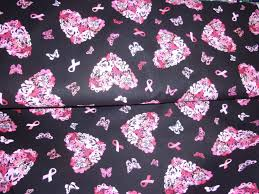 pink ribbon fabric breast cancer awareness pink ribbon and butterfly heart icons