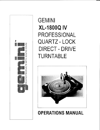 gemini turntable xl 1800q iv user guide manualsonline com