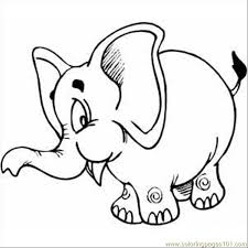 pink elephant coloring free elephant coloring pages
