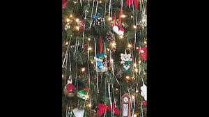 christmas tree with white lights and red bows rotating christmas tree with white lights red bows holographic