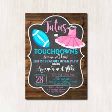 touchdowns or tutus invitation gender reveal party