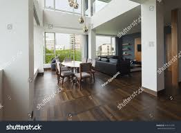 luxury duplex floor plans open plan living room luxury duplex stock photo 410114791