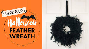 Easy Halloween Wreath by Easy Halloween Feather Wreath Diy Balsacircle Com Youtube