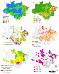 Maps O Maps Of Forest Disturbance Covariates For Malaria Incidence