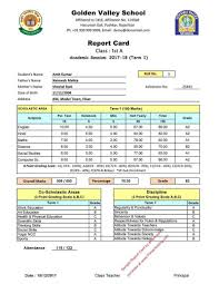 kindergarten progress report template cbse report card format for primary classes i to v term 1 report card