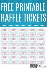raffle tickets free printable raffle tickets pin jpg
