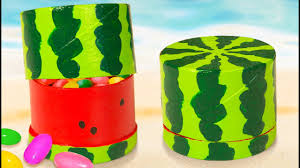 diy miniature water melon gift box toilet paper roll craft ideas