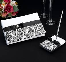 black guest book black damask wedding guest book pen set damask guest book