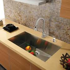 Kitchen Sinks Stainless Steel Vigo 30 Inch Undermount Single Bowl 16 Gauge Stainless Steel