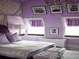 bedside l ideas apartments dark purple room bedroom walls chrome bedside tables