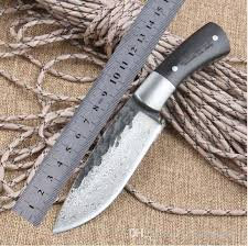 knife patterns straight handmade forged damascus steel pattern hunting knife fixed