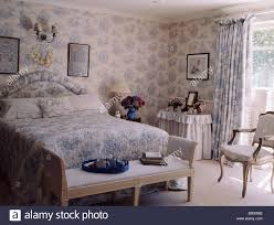 Blue Toile Curtains Blue White Toile De Jouy Wallpaper With Matching Curtains And