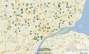 Detroit Zip Code Map December 2012