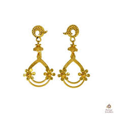beautiful gold earrings images beautiful flower designer golden earring parmar jewellersparmar