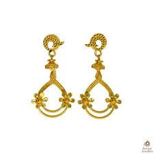 beautiful gold earrings images beautiful flower designer golden earring parmar jewellersparmar