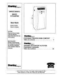 danby air conditioners dpac120068 pdf owner u0027s manual free download