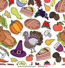 thanksgiving vector seamless pattern texture stock vector