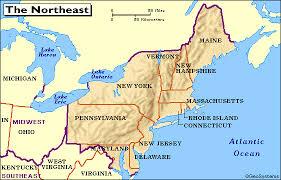 map us northeast map us northeast region