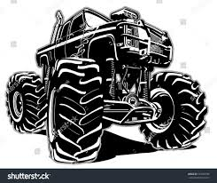 bigfoot monster truck cartoon cartoon monster truck eps8 separated by stock vector 193553786